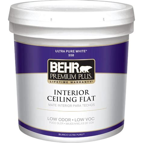 ceiling paint behr premium plus 1 gal flat interior ceiling paint 55801
