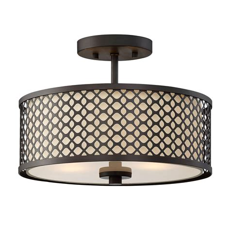 flush mount drum light 251 first nicollet rubbed bronze two light drum semi flush