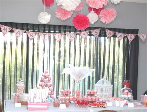 Pom Poms Baby Shower by Pink Baby Shower For Pom Poms Banner Decorations