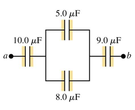 what is the capacitance of the capacitor mastering physics 1 find the equivalent capacitance of this system chegg
