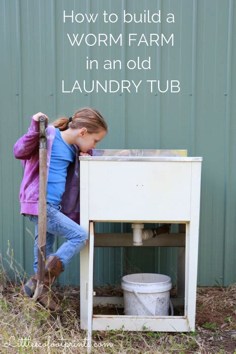 How To Build A Worm Farm In An Old Laundry Tub Little How To Build A Laundry