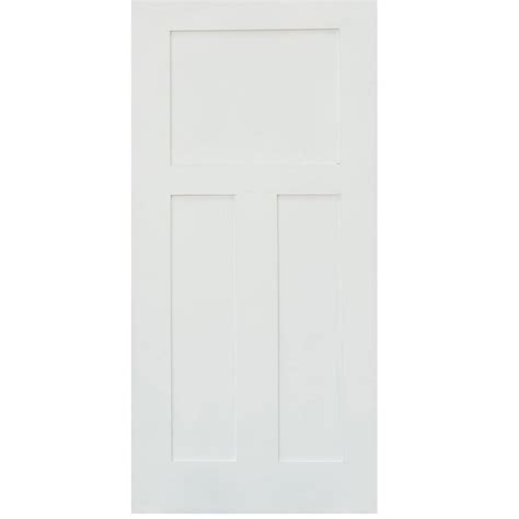 3 panel interior doors home depot stile doors 24 in x 80 in shaker primed 3 panel solid mdf interior door slab slb sd 125