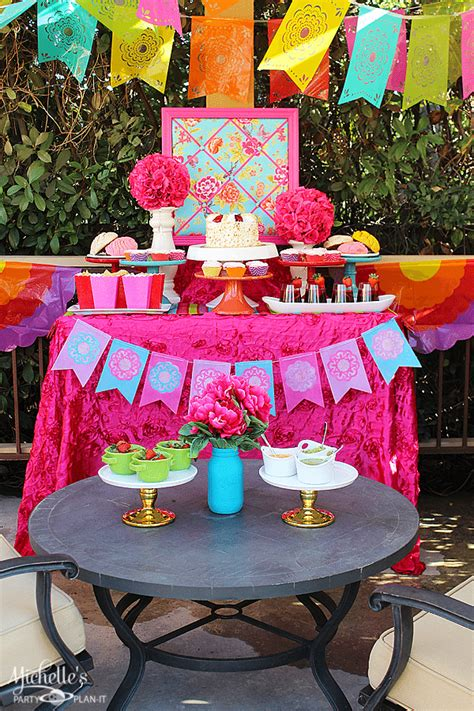 how to plan a backyard party how to plan a radiant and bright garden fiesta michelle