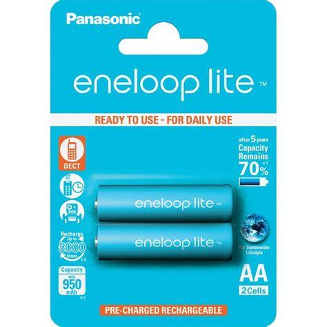 Batre Panasonic Eneloop Lite Rechargeable 1000 Mah Aa aa battery rechargeable nimh panasonic eneloop lite hr06