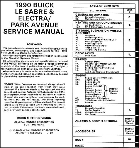 car repair manuals download 1991 buick lesabre electronic throttle control service manual pdf 1984 buick electra electrical troubleshooting manual 1984 1985 buick