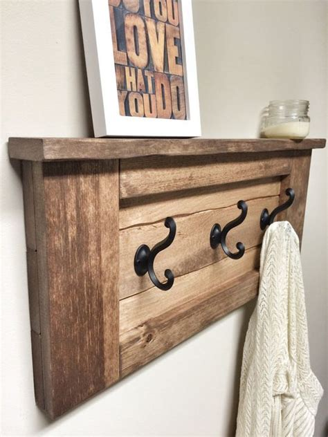 Entryway Shelf Decor Rustic Wooden Entryway Walnut Coat Rack Rustic Wooden
