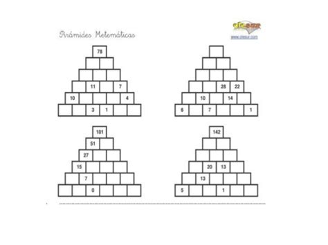 suma en piramides numericas de tercer grado de primaria pir 225 mides num 233 ricas