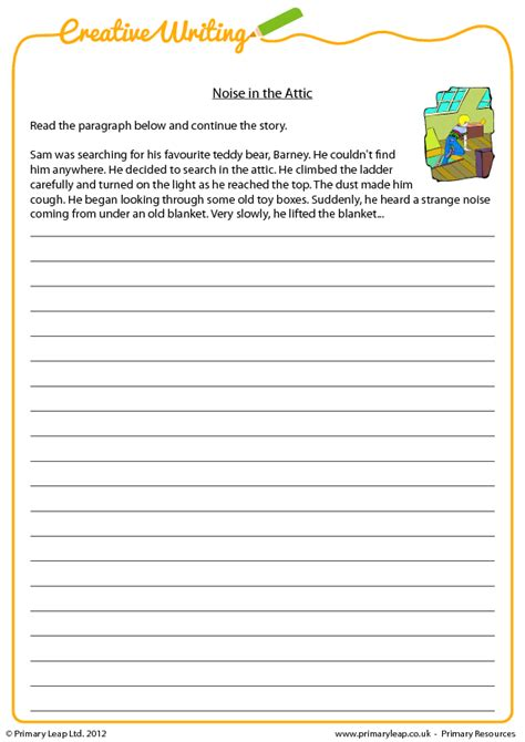 ideas for ks2 creative writing noise in the attic creative writing prompt