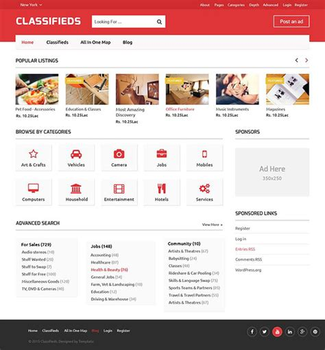 Classified Website Template Free 28 Images Real Estate Website Template Free Real Estate Web Classified Website Template