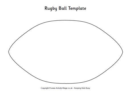 How To Make A Rugby Out Of Paper - rugby template
