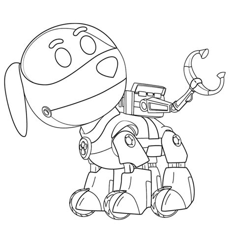 robot dog coloring page paw patrol coloring pages coloring home