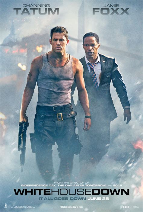 white house down jamie foxx employs a rocket launcher in full length trailer for white house down