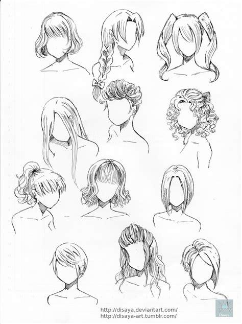 manga girl hair reference hair reference 2 by disaya on deviantart