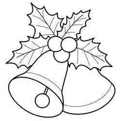 Bells With Mistletoe  Coloring Page Christmas sketch template