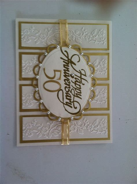 Handmade Golden Wedding Cards - best 25 50th anniversary cards ideas on