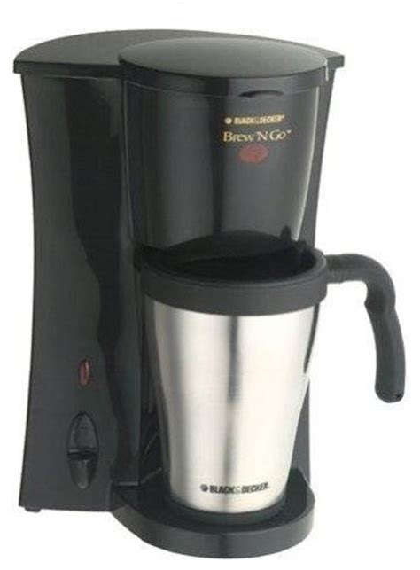 Coffee Maker Black Decker Penyeduh Kopi 1 Cup 330 Watt Dcm25 B1 black decker dcm18s coffeemaker 1 cup stainless steel black contemporary coffee makers