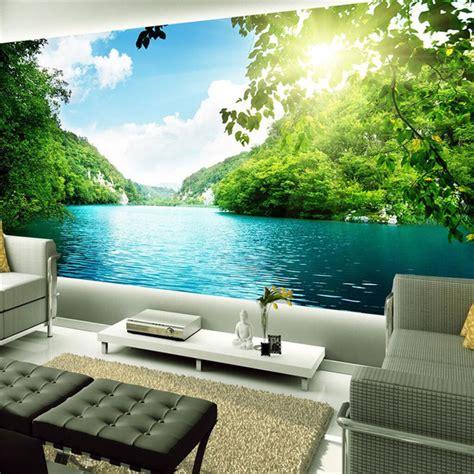 home decor photo background wallpaper  living room landscape lake nature office bedroom art