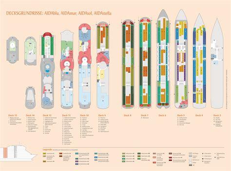 Deckplan Aida by Kreuzfahrttraum Karibik Mittelamerika Auf Aidamar