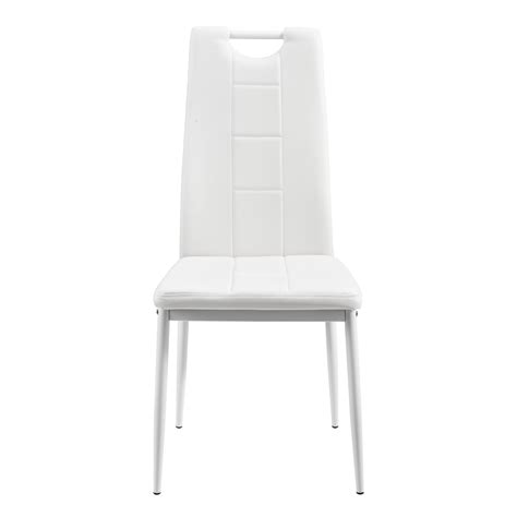Ebay White Dining Chairs En Casa Dining Table Mit 6 Chairs White 140x70cm Kitchen With Handle Ebay