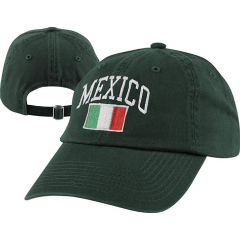 team mexico green adjustable hat the olympic theme