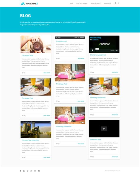 templates blogger material design materialx material design personal template by bdinfosys