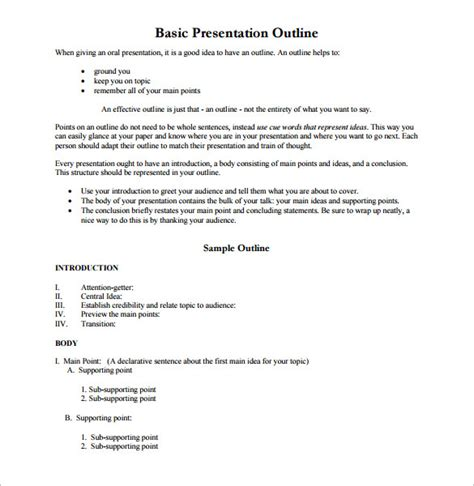 templates for paper presentation mla format outline template research paper