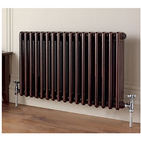 Homebase Kitchen Designer by Colonna 3 Column Black Radiator 602 X 1194mm