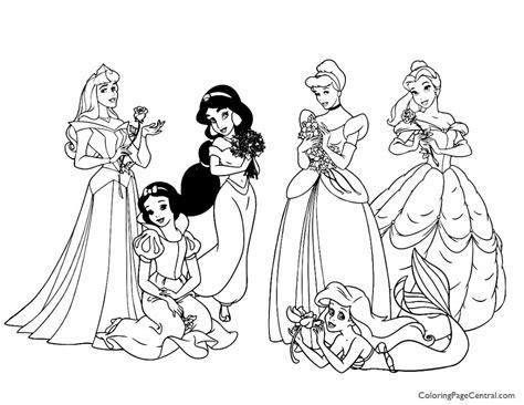 disney group coloring page 56 disney princess coloring pages disney princess
