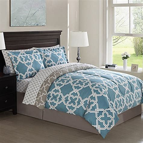 Grey Teal And Black Bedding by Bolton Gatework 8 Comforter Set In Teal Grey Bed