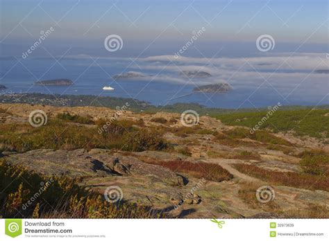 cadillac mountain time cadillac mountain at sunset royalty free stock images