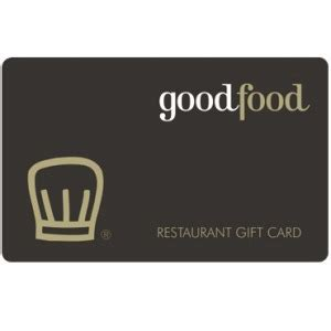 Good Gift Card - give the experience of good food