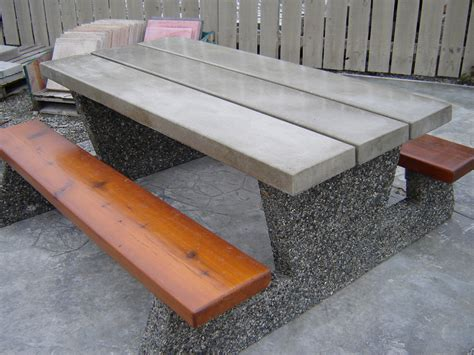 concrete picnic table federal parks style picnic table mackay precast products