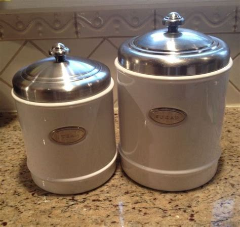 White Kitchen Canister Sets Ceramic by Williams Sonoma White Ceramic Canister Set Of 2 Sugar