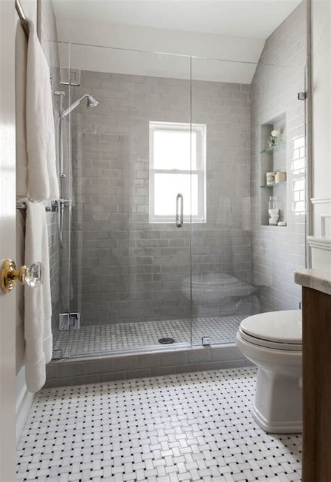 shower with gray subway tiles transitional bathroom shower with gray subway tiles transitional bathroom