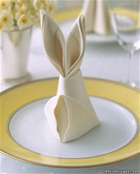 setting table napkin bunny napkins and a beautiful table setting design dazzle