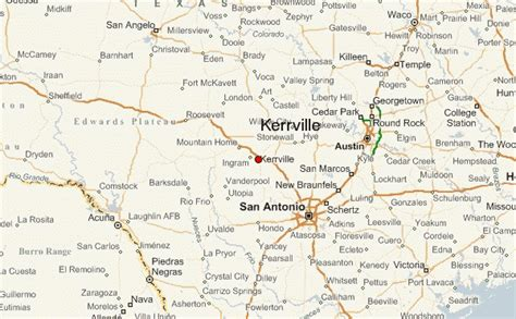kerrville texas map kerrville location guide
