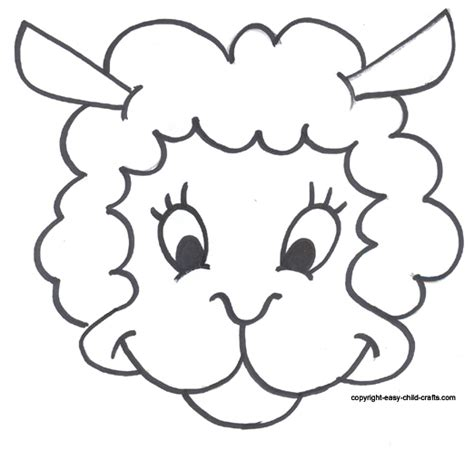 free printable sheep template free coloring pages of mask
