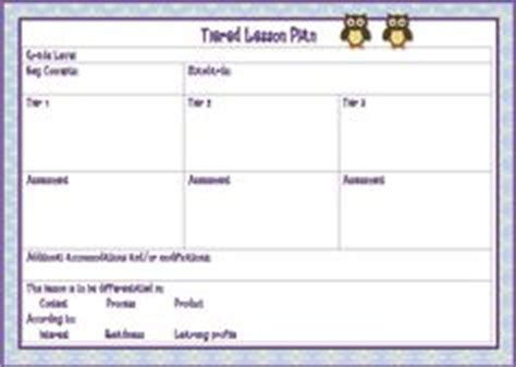 tiered lesson plan template ubd understanding by design on
