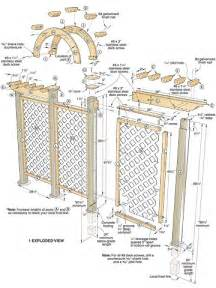 trellis plan wooden woodworking plans trellis pdf plans