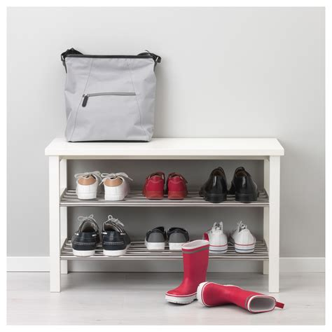 tjusig bench with shoe storage tjusig bench with shoe storage white 81x50 cm ikea