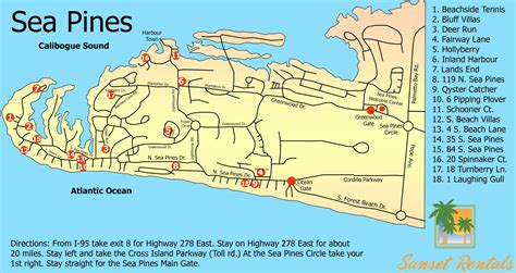 sea pines resort map sunset rentals vacation rentals