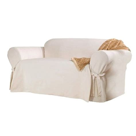 cotton loveseat slipcover sure fit cotton duck loveseat slipcover target