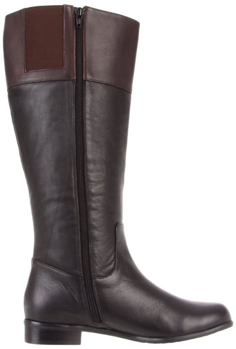 wide calf leather boots ros hommerson chip boot black brown leather wide calf h