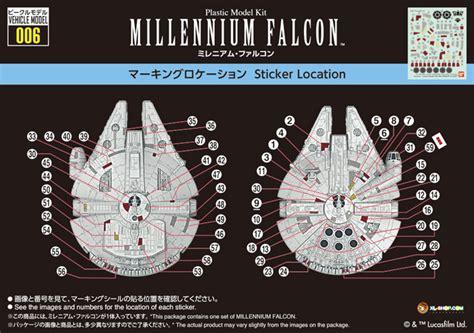 Vehicle Model 006 Millenium Falcon bandai wars vehicle model 006 millennium falcon model kit