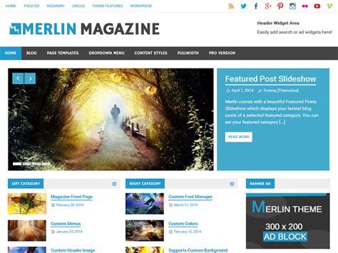 wordpress themes zee merlin themezee