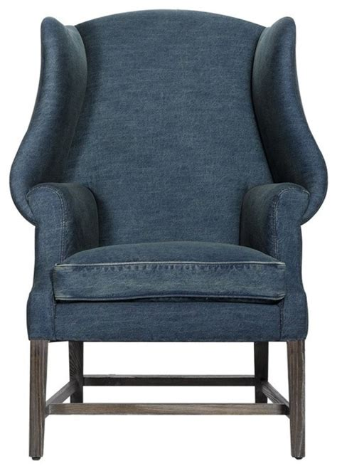 wingback denim chair armchairs