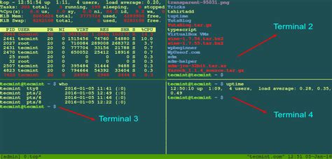 linux console how to use tmux terminal to access terminals