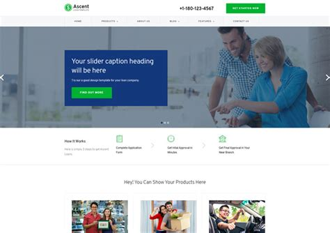 Ascent Loan Business Responsive Website Templates Ease Template Free Mortgage Website Templates