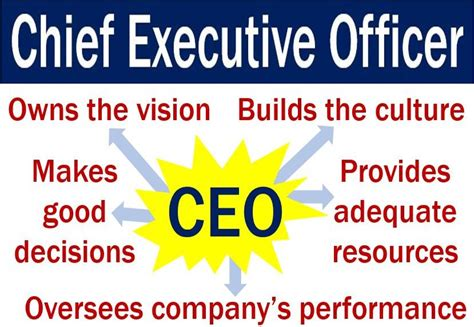 chief executive officer description chief executive officer or ceo definition and meaning