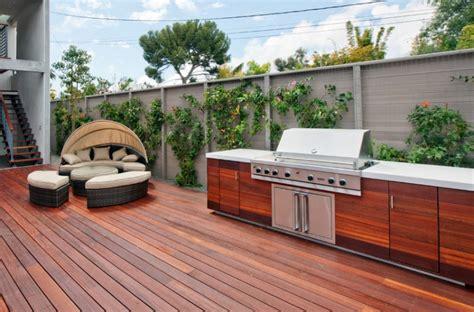 wood outdoor kitchen